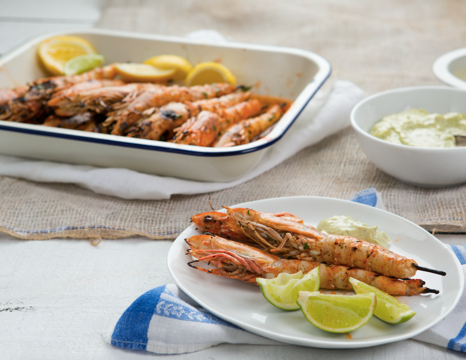 Native eating: Maggie Beer's Lemon Myrtle BBQ Prawns