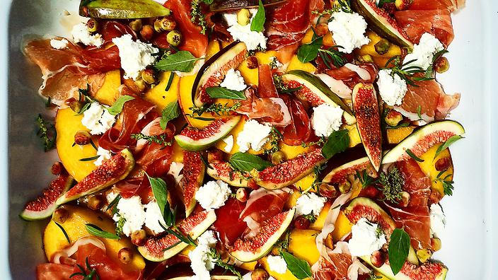 NATIVE FOOD MONTH: WARNDU MUNTRIE, FIG AND PROSCIUTTO SALAD