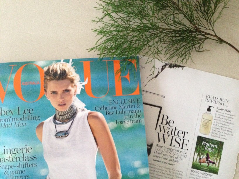 BONDI WASH FEATURES IN AUSTRALIAN VOGUE