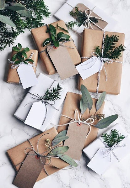 Brown paper christmas wrapping