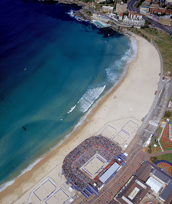 The volleyball arena for the Sydney Olympics, Bondi Beach 2000