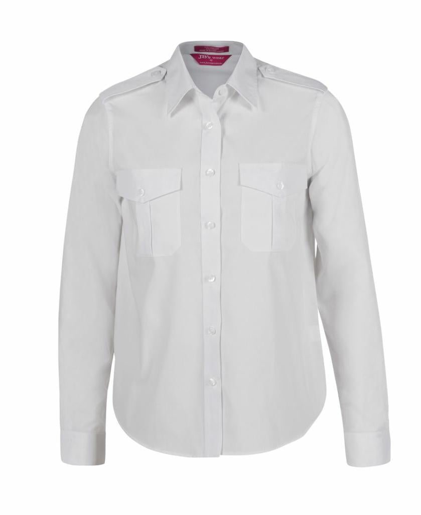 JB's Wear 6ESL1 Ladies Epaulette Shirt L/S