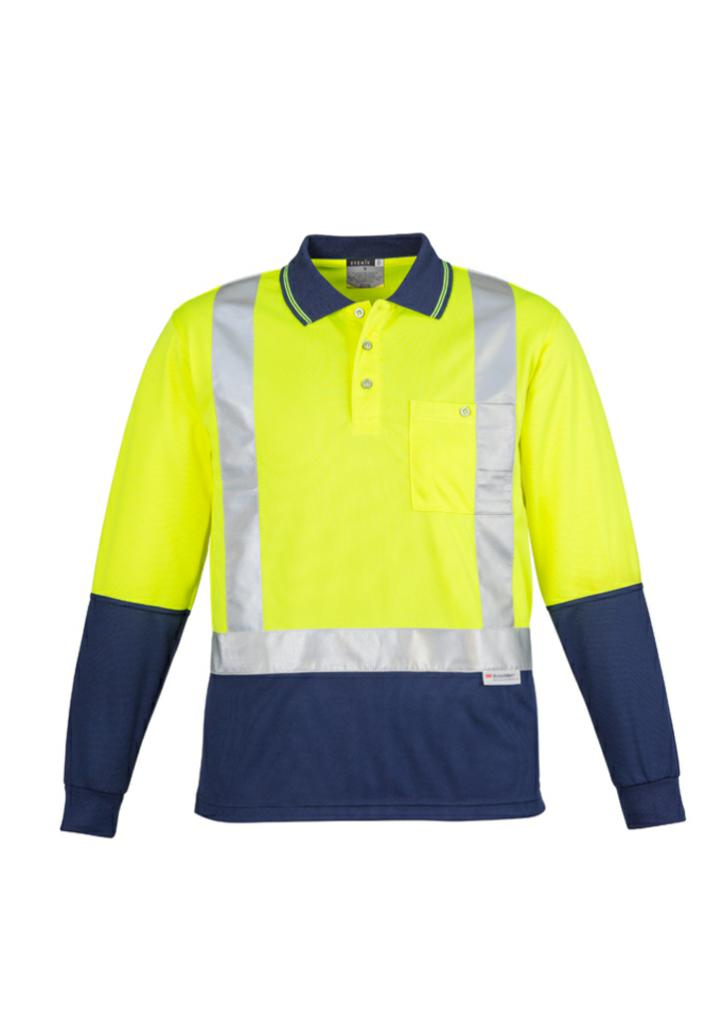 Syzmik ZH234 Mens Hi Vis L/S Polo-Shoulder Taped