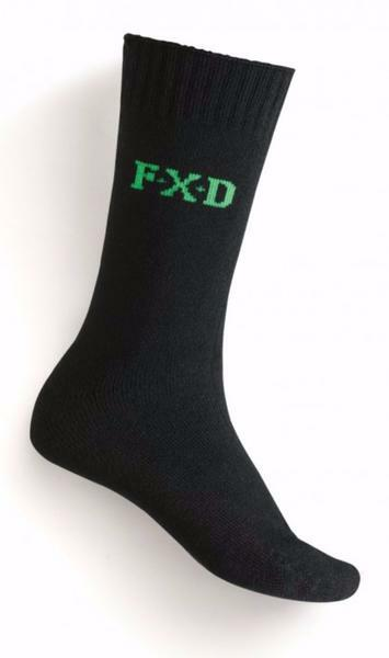 FXD Socks SK5 Crew Bamboo Work Socks Black 2pkt