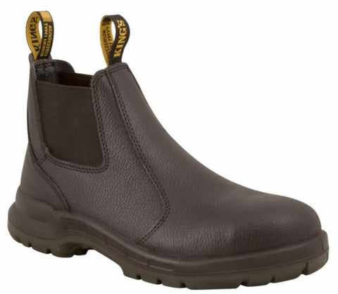 Kings 15480 Safety Work Boot Slip on Elastic Side