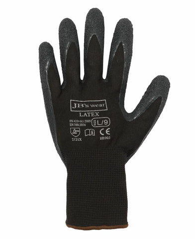 JB's Wear 8R003 Black Latex Glove