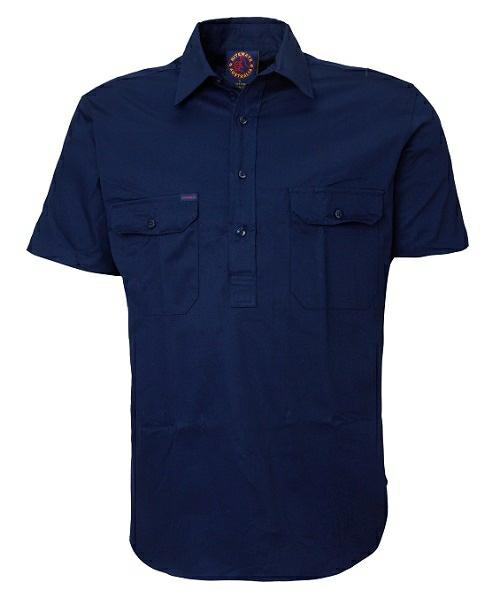 Ritemate Closed Front RM100CFS Short Sleeve Shirt