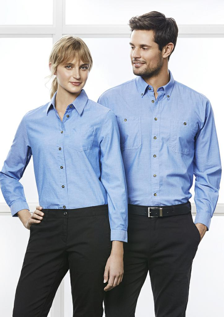 Biz Collection LB6201 Ladies Chambray L/S Shirt