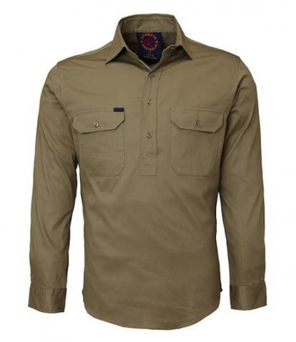 Ritemate Closed Front RM100CF Long Sleeve Shirt