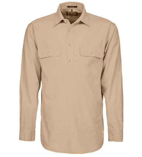 RM200CF Men's Pilbara Closed Front L/s Shirt