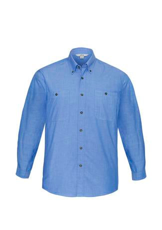 Biz Collection SH112 Mens Chambray L/S Shirt
