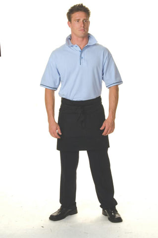 DNC 2111 Polyester Cotton Short Apron W/ Pocket