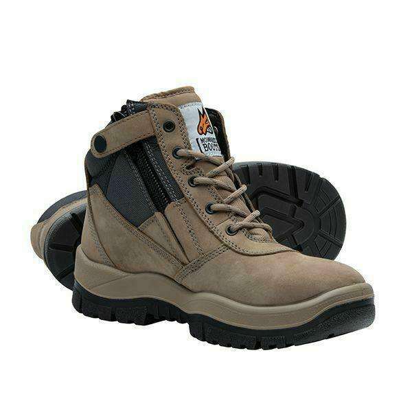 Mongrel Boots Stone Lace Zip Side Safety 261060