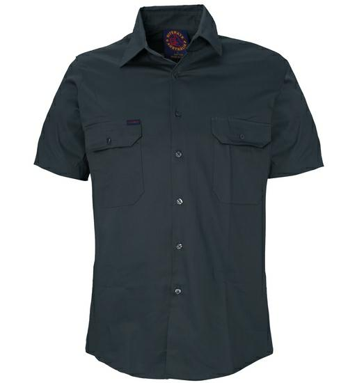 Ritemate RM1000S Open Front Short Sleeve Shirt