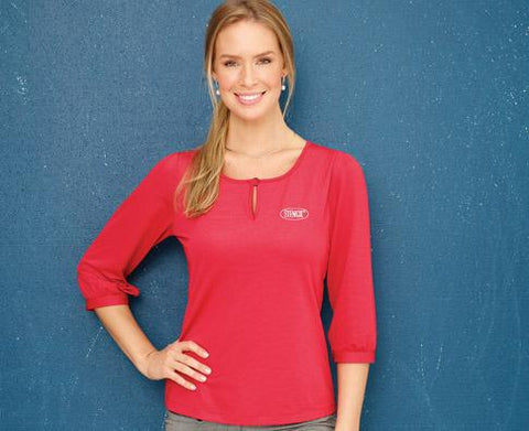 Stencil 1258Q Ladies Silvertech 3/4 Sleeve Top