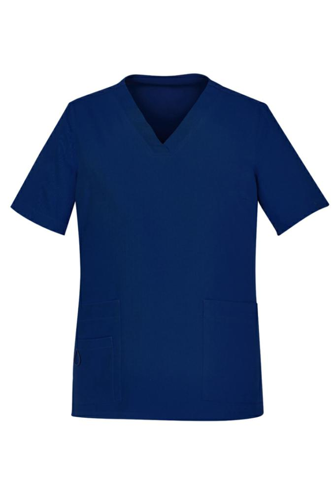 Biz Care CST941LS Womens Easy Fit V-Neck Scrub Top
