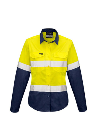 Syzmiks ZW720 Womens Taped Hi-Vis Spliced L/S