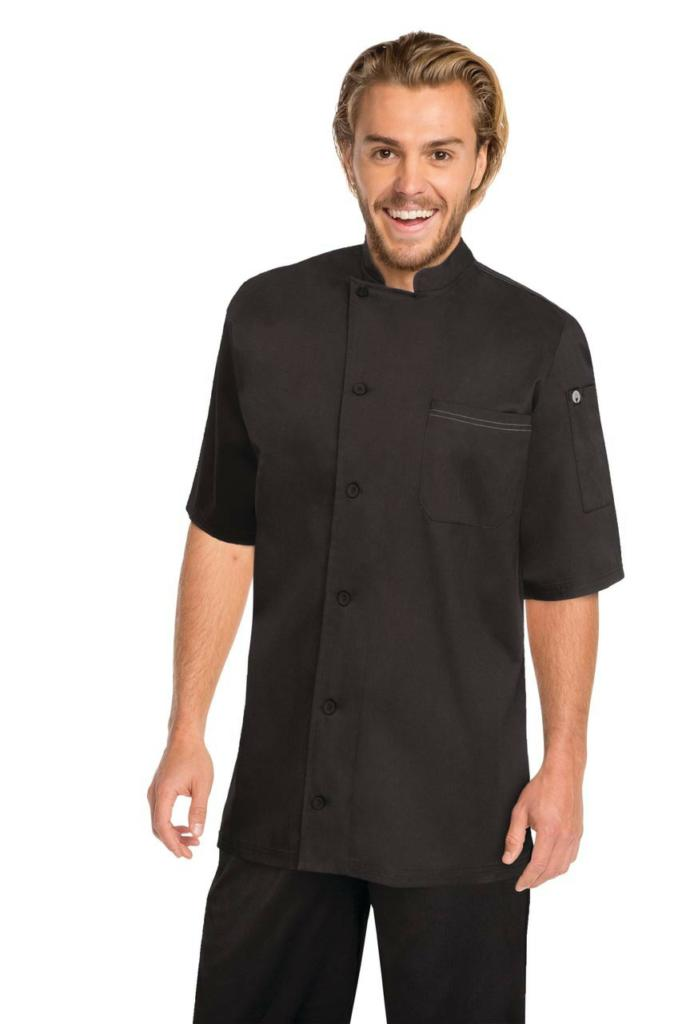 Chef Works V-Series Mens Black Valais Chef Jacket