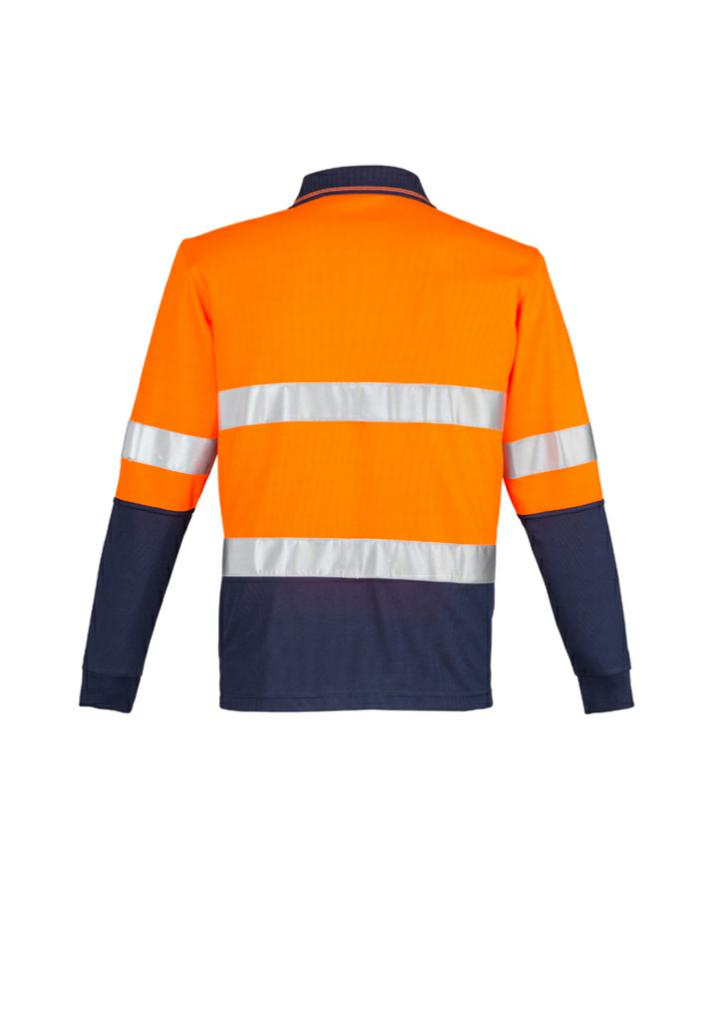 Syzmik ZH235 Mens Hi Vis L/S Polo - Hoop Taped