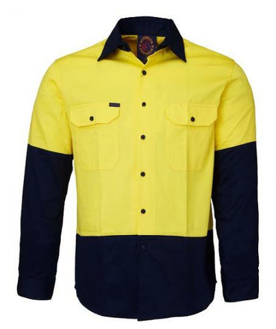 Ritemate Open Front RM1050 Long Sleeve Shirt