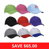 Embroidered Logo 4199 Cotton Caps QTY 25