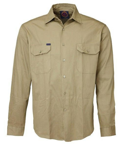 Ritemate RM1000 Open Front Long Sleeve Shirt