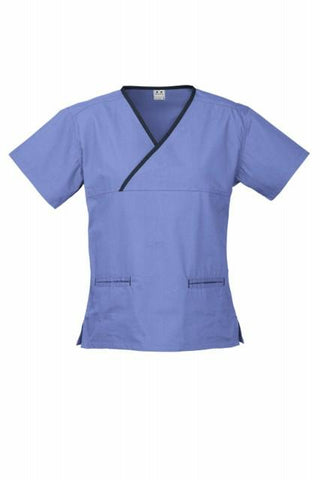 Biz Collection  Ladies Crossover Scrubs Top H10722