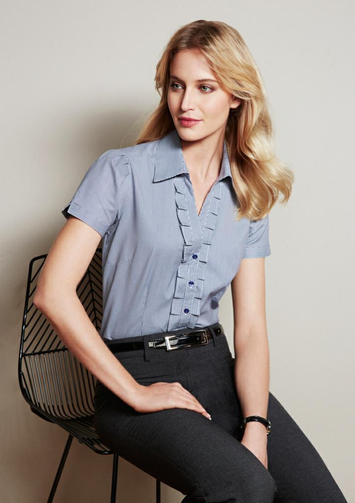 Biz Collection S267LS Ladies Edge S/S Shirt