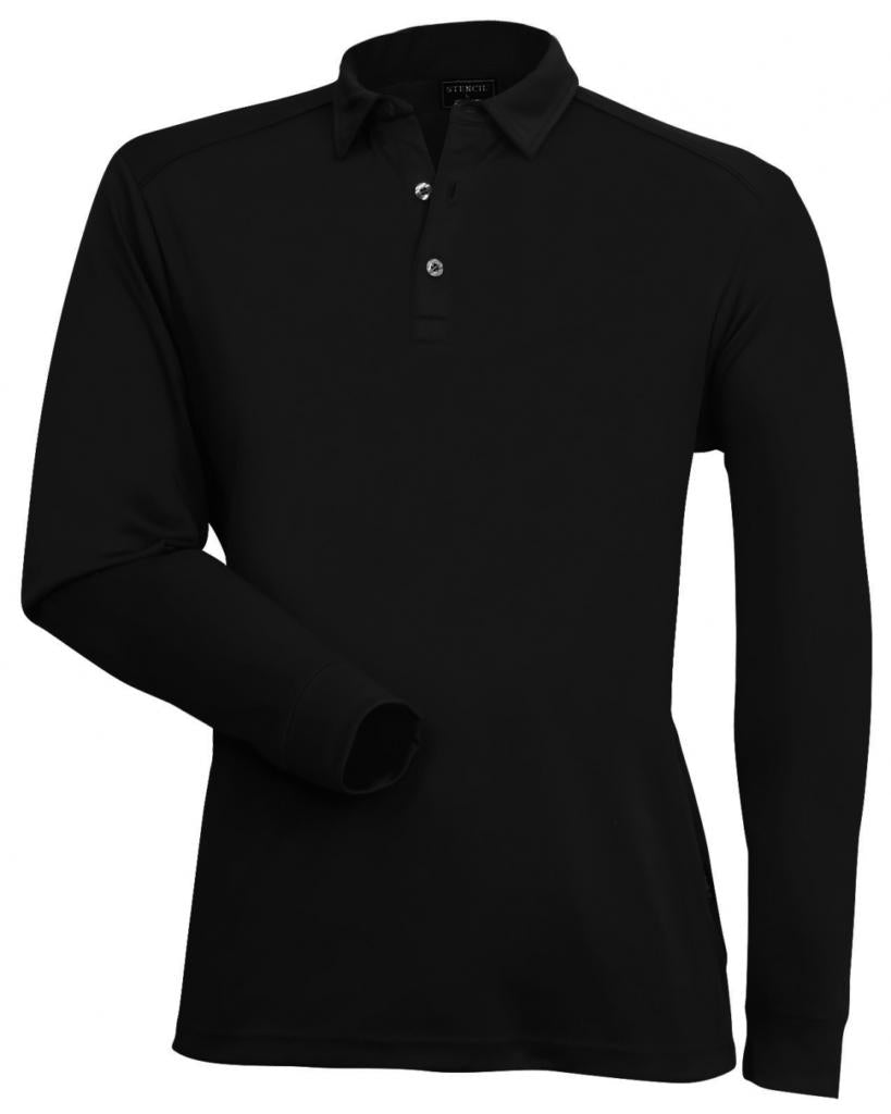 Stencil 1043 Mens Long Sleeve Freshen Polo