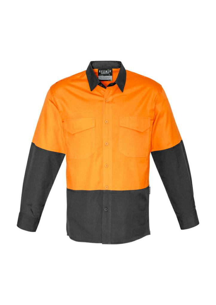 Syzmik ZW128 Mens Cooling Hi-Vis Spliced L/S Shirt