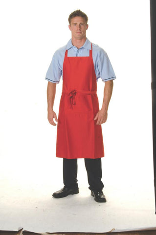 DNC 2512 Polyester Cotton Full Bib Apron No Pocket