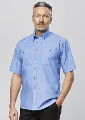 Biz Collection SH113 Mens Chambray S/S Shirt