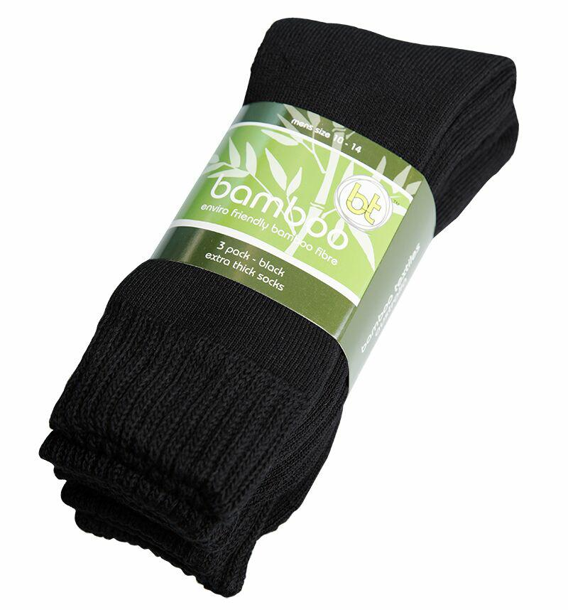 Bamboo Textiles Extra Thick Sock 3 PKT
