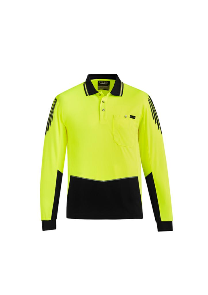 Syzmik ZH310 Men's Hi-Vis Flux L/S Polo