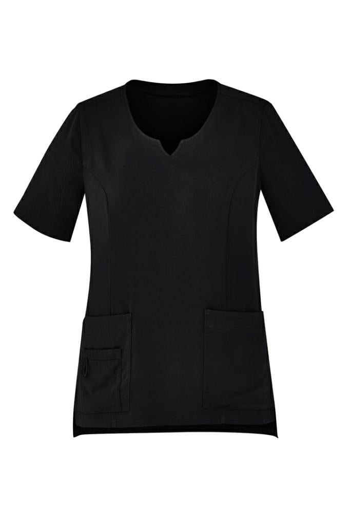 Biz Care CST942LS Womens Round Neck Scrub Top