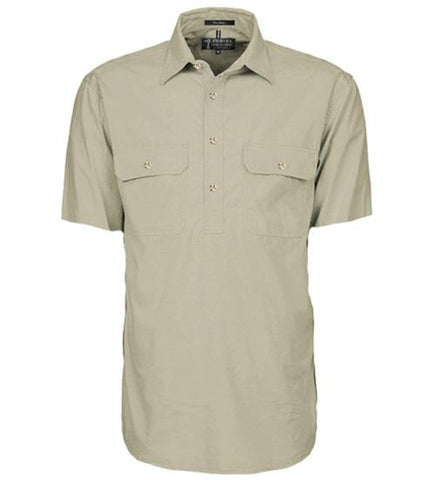 Ritemate Closed Front L/W S/S Shirt RM200CFS