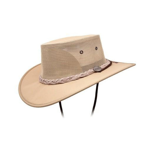 Barmah Hats 1057BE Canvas Drover Hat Beige