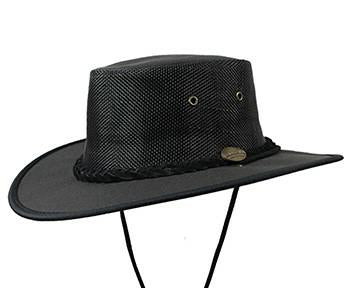 Barmah Hats 1057BL Canvas Drover Hat Black