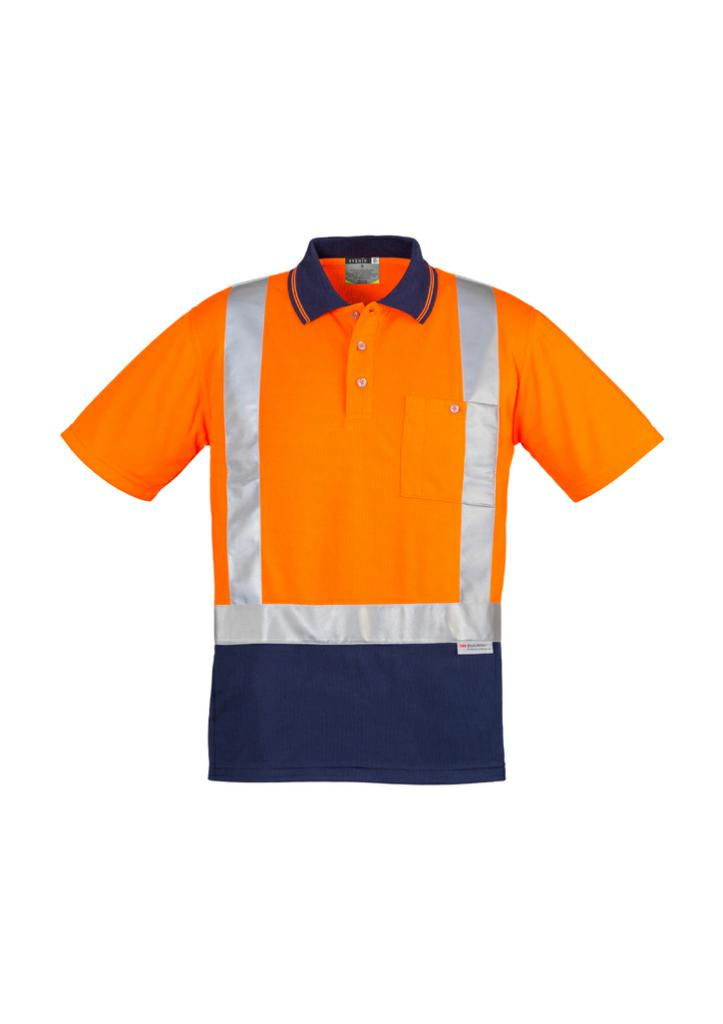 Syzmik ZH233 Mens Hi-Vis Shoulder Tape Polo
