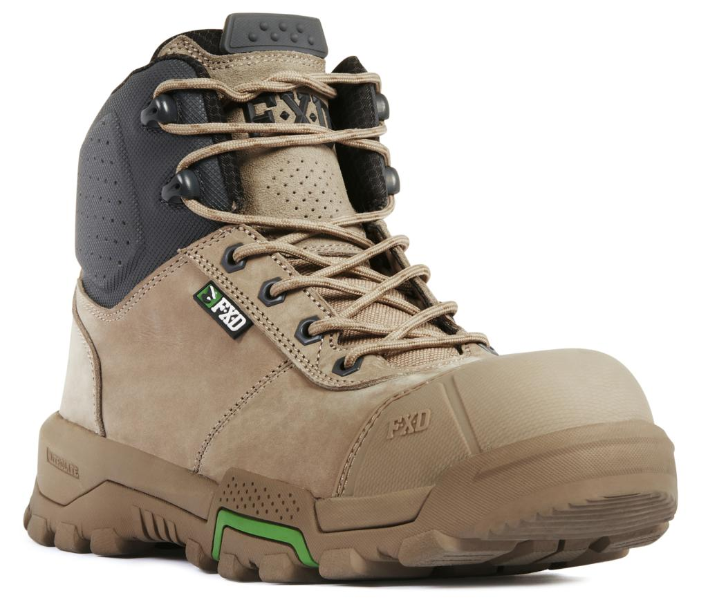 FXD Boots 4.5 Mid-Cut Work Boots Zip Side WB-2