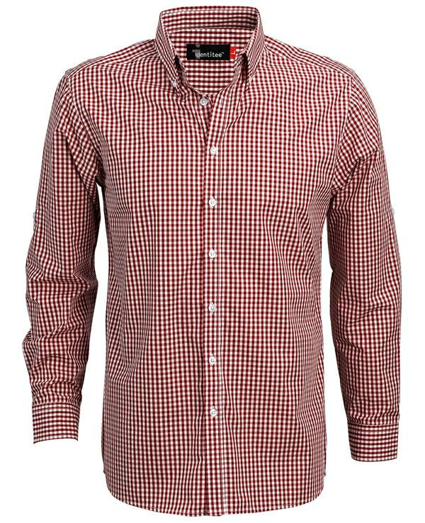 Identitee W44 Miller Mens Long Sleeve Check