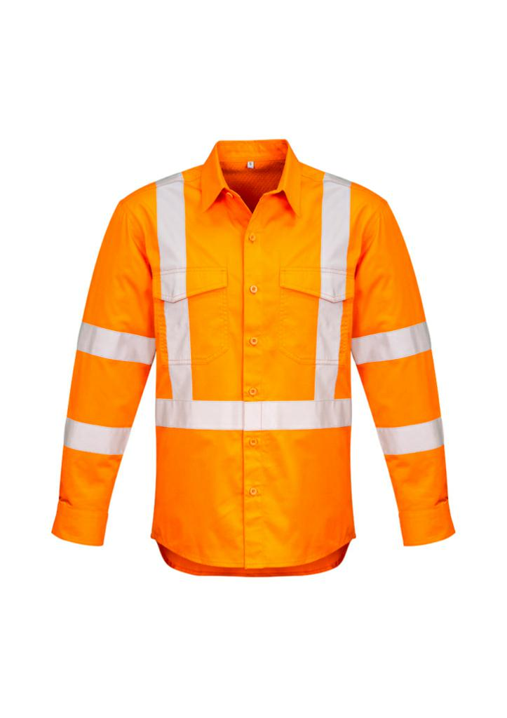 Syzmik Mens Hi-Vis Cross Back Taped Shirt ZW690