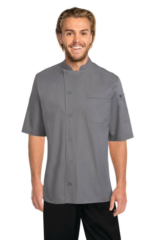 Chef Works V-Series Mens Grey Valais Chef Jacket