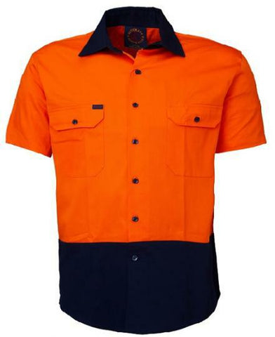 Ritemate Open Front RM1050S Short Sleeve Shirt