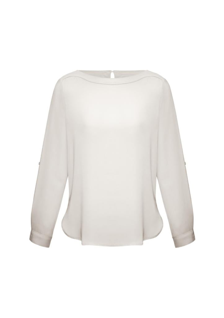 Biz Collection S828LL Madison BoatNeck Blouse