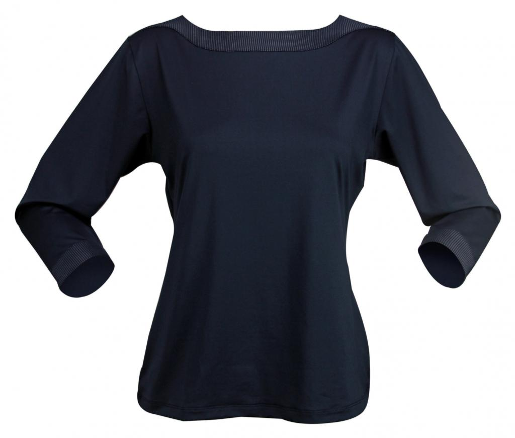 Stencil 1259Q Ladies 3/4 Sleeve Argent Top