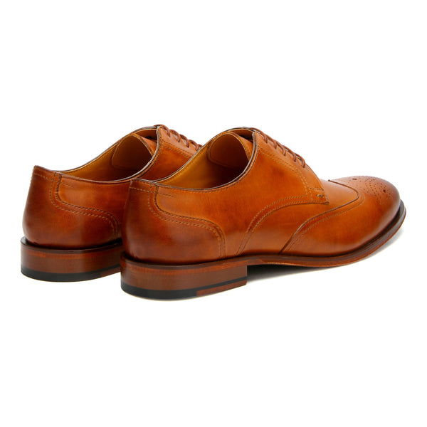 Abbot: Tan wingtip Derby