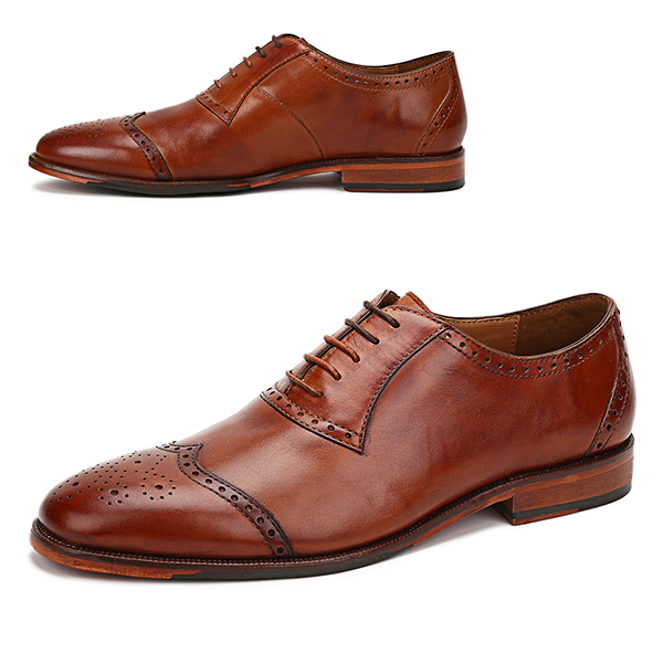 Connaught: Tan Wingdown Oxford