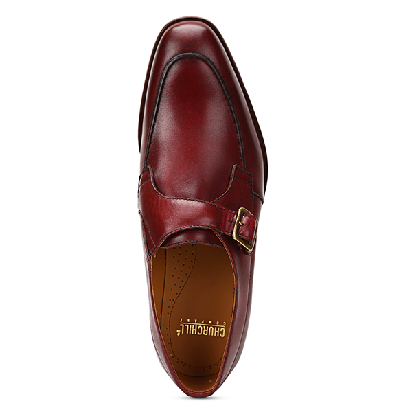 Craig: Burgundy Single Monk Strap