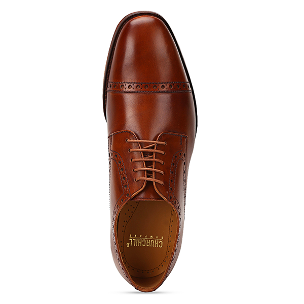 Brent: Tan Cap-Toe Derby